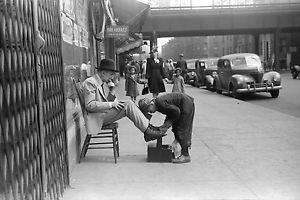 Чистка обуви в прошлом веке